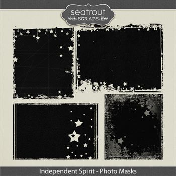 Independent Spirit Photo Masks Digital Art - Digital Scrapbooking Kits