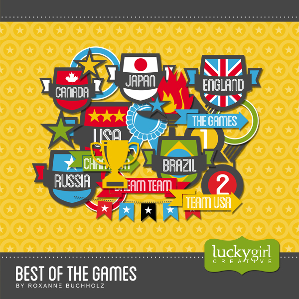 Best Of The Games Digital Art - Digital Scrapbooking Kits