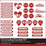Documenting Essentials Brushes And Stamps No. 01