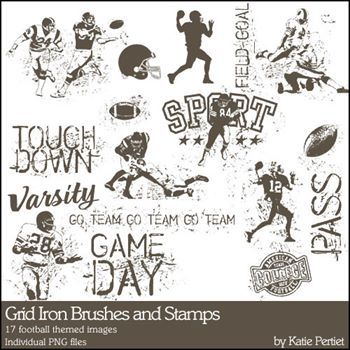 Grid Iron Brushes And Stamps