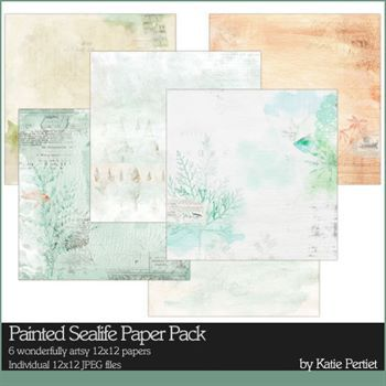 Painted Sealife Paper Pack