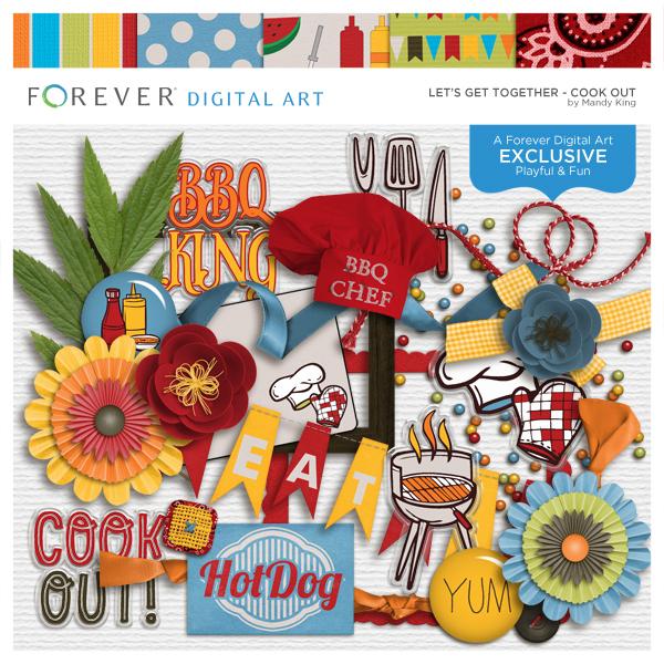 Let's Get Together Cookout Digital Art - Digital Scrapbooking Kits