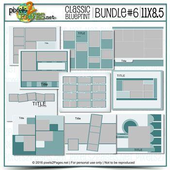 11x8.5 Classic Blueprint Bundle #6