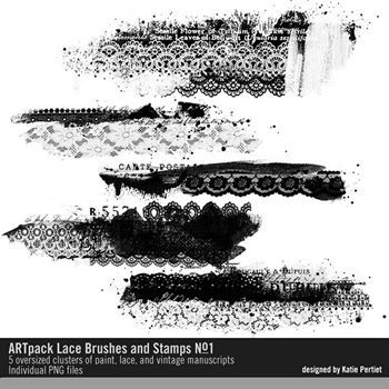 Artpack Lace Brushes And Stamps No. 01