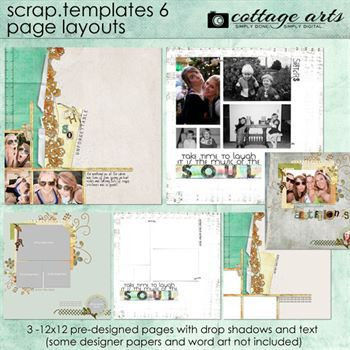 12 X 12 Scrap Templates 6 - Page Layouts