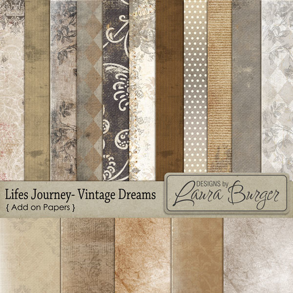Lifes Journey Vintage Dreams Add On Papers