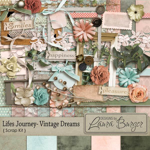 Lifes Journey Vintage Dreams Scrap Kit