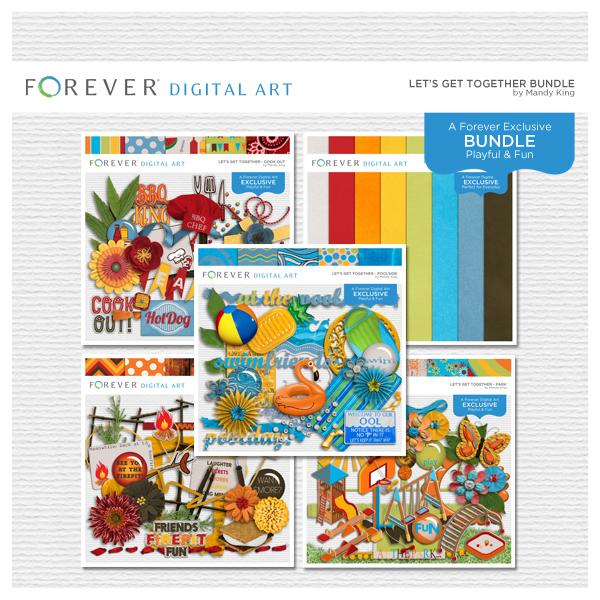 Let's Get Together Bundle Digital Art - Digital Scrapbooking Kits