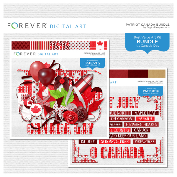 Patriot Canada Bundle Digital Art - Digital Scrapbooking Kits
