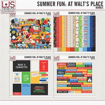 Summer Fun - At Walt's Place - Bundle Digital Art - Digital Scrapbooking Kits