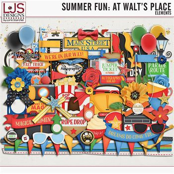 Summer Fun - At Walt's Place - Elements Digital Art - Digital Scrapbooking Kits