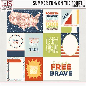 Summer Fun - On The Fourth - Cards