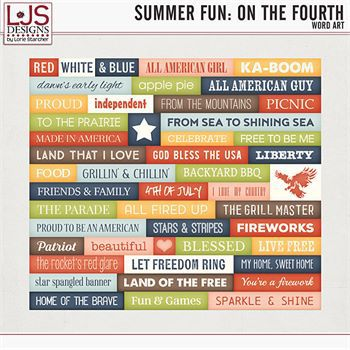 Summer Fun - On The Fourth - Word Art