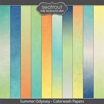 Summer Odyssey Colorwash Papers