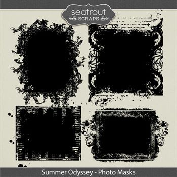 Summer Odyssey Photo Masks Digital Art - Digital Scrapbooking Kits