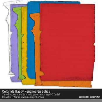 Color Me Happy Roughed Up Solids Paper Pack