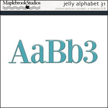Jelly Alphabet No. 31