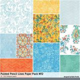 Painted Pencil Lines Paper Pack No. 02