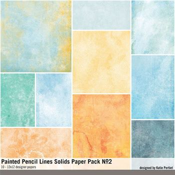 Painted Pencil Lines Solids Paper Pack No. 02