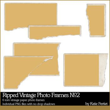 Ripped Vintage Photo Frames No. 02