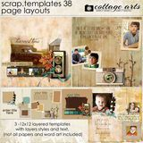 12 X 12 Scrap Templates 38 - Page Layouts