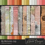 My Memories July Textural Papers