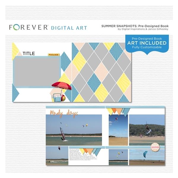Summer Snapshots Pre-designed Book