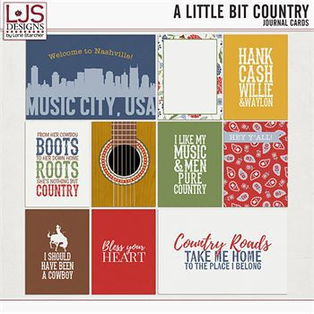 A Little Bit Country - Journal Cards