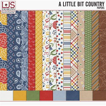 A Little Bit Country - Papers Digital Art - Digital Scrapbooking Kits