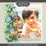 12 X 12 Predesigned Editable Page 5