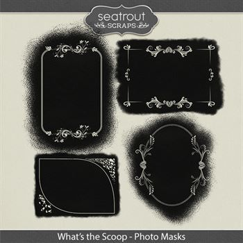 What's The Scoop Photo Masks Digital Art - Digital Scrapbooking Kits