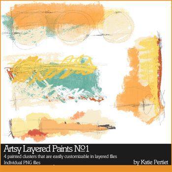 Artsy Layered Paints No. 01