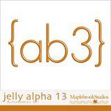 Jelly Alphabet No. 13