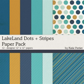 Lakeland Dots And Stripes Paper Pack