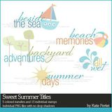Sweet Summer Titles Brushes And Stamps