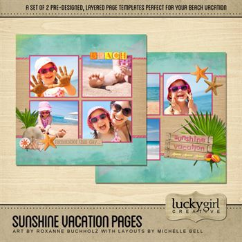 Sunshine Vacation Pre-designed Pages