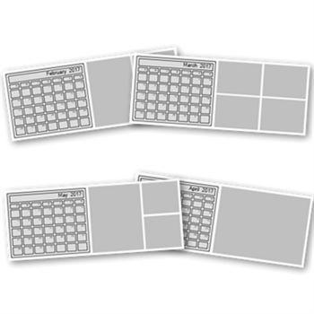 2017 Desktop Calendar Template 4x10