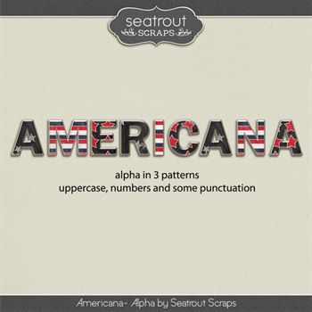 Americana Alpha Digital Art - Digital Scrapbooking Kits