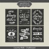Country Walk Chalkboard Word Art
