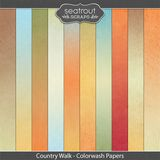 Country Walk Colorwash Papers