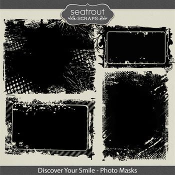 Discover Your Smile Photo Masks Digital Art - Digital Scrapbooking Kits