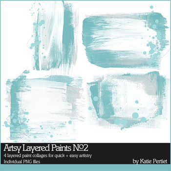 Artsy Layered Paints No. 02