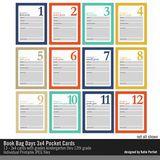 Book Bag Days 3x4 Pocket Cards