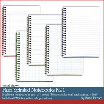 Plain Spiral Notebooks Value Pack No. 01