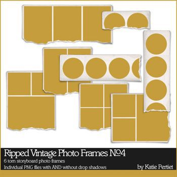 Ripped Vintage Photo Frames No. 04