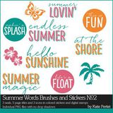 Summer Words Brushes And Stickers No. 02