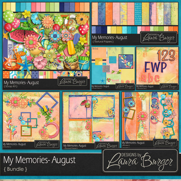 My Memories August Bundle - Fwp Alphabet Set