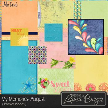 My Memories August Pocket Pieces