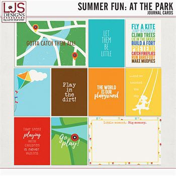 Summer Fun - At The Park - Journal Cards