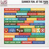 Summer Fun - At The Park - Word Art